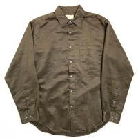 90s Merona Fake Suede Long Sleeve Shirt Brown