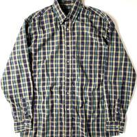 80s Eddie Bauer Poplin Plaid Longsleeve Shirt