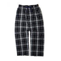BOXERCRAFT FLANNEL EASY PANTS BLACK/WHT