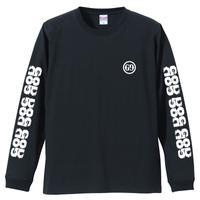 「GG」長袖プリントTシャツ / 黒