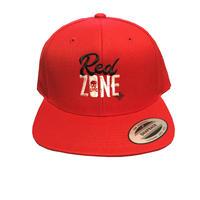 「RED ZONE」スナップバックCAP /  赤
