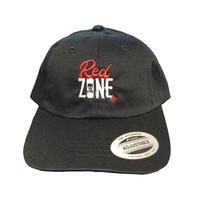 「RED ZONE」コットンLOW CAP /  黒