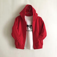 KIDS Zip Hoodie ( Logo / White,Red)
