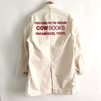 Book Vender Coat (Shop Coat/ Natural ×Red)