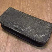ビンテージ40's●コの字留めレザートラベルケース黒●201020n4-bag-pch 1940sトラベルポーチバッグ
