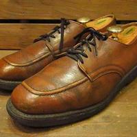 ビンテージ80's●RED WING Uチップシューズ茶●210331s11-m-dshs-275cm 1980sレッドウィングポストマン革靴