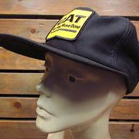 ビンテージ●CATスナップバックキャップ黒●210205n4-m-cp-bbキャタピラーCATERPILLARトラッカーキャップブラック帽子古着