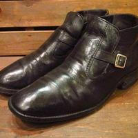 ビンテージ●FREEMANストラップブーツ黒Size10 1/2D●210303s11-m-bt-285cm フリーマンメンズアンクル靴