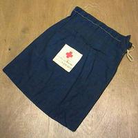 ビンテージ10's20's●AMERICAN RED CROSSコットン巾着バッグ紺●200820n7-bag-ot 1910s1920sアメリカンレッドクロス赤十字ミリタリー