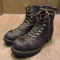 ビンテージ40's50's●Dannerレディースモンキーブーツ焦げ茶●201112n1-w-bt-235cm 1940s1950sダナー靴レザーワークブーツ