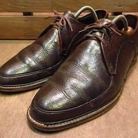 ビンテージ60's70's●Uチップシューズ茶9 1/2 D●200712n7-m-dshs-275cm 1960s1970s革靴メンズレザーブラウン