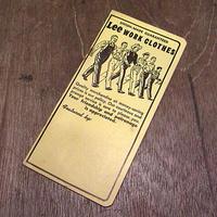 ビンテージ60's●Leeアドバタイジングノートブック●201207n7-otclct 1960sリーワークメモ帳販促品
