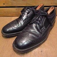 ビンテージ80's●ウィングチップシューズ黒●201113n5-m-dshs-29cm革靴古靴ドレスシューズビジネスシューズブラックメンズUSA