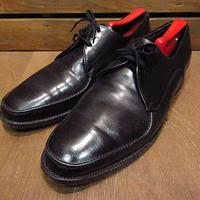 ビンテージ70's●WEYENBERG Uチップシューズ黒size 9 1/2D●201218n6-m-dshs-275cmウェインバーグレザー革靴サービスシューズ古靴