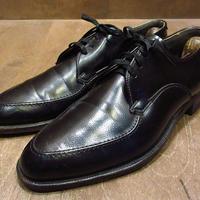 ビンテージ50's60's●Wright Uチップシューズ黒●210411n1-m-dshs-265cm 1950s1960s革靴フェイクレザードレスシューズ
