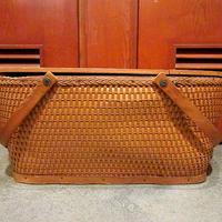 ビンテージ50's●RED-MANピクニックバスケット●210128s9-otdeqp REDMONアウトドアキャンプ雑貨キャリーバッグ