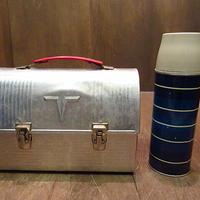 ビンテージ70's●THERMOSメタルランチボックス&ウォーターボトル2点セット●201203n8-otclct 1970sサーモス弁当箱バッグ水筒