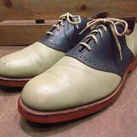 ビンテージ●COLE-HAANツートンサドルシューズ紺×グレー10 1/2 D/B●200604n3-m-dshs-29cm コールハーン革靴メンズコンビシューズ