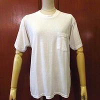 ビンテージ80's●ポケットTシャツ白●200603s6-m-tsh-pl 1980s無地ポケTメンズ半袖