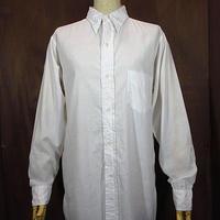 ビンテージ40's●Jim Penneyマチ付きドレスシャツ白14 1/2●200611n1-m-lssh-drs 1940sワイシャツ白シャツ長袖シャツ