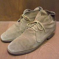 ビンテージ70's●スウェードチャッカブーツ 約27.5cm●201010n4-m-bt-275cm デザートブーツ革靴メンズシューズ