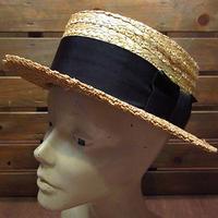 ビンテージ●DEADSTOCK CHRISTY'S LONDONボーターハット7 1/8●200802n7-m-ht-str デッドストッククリスティーズロンドンカンカン帽