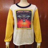 ビンテージ70's●STAR TREK U.S.S.ENTERPRISEプリント長袖Tシャツ●200917f6-m-lstsh古着スタートレックロンTエンタープライズ