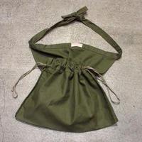 ビンテージ40's●AMERICAN RED CROSS HBTエプロンバッグ●210416s6-bag-pch レッドクロスミリタリー米軍実物巾着ポーチ