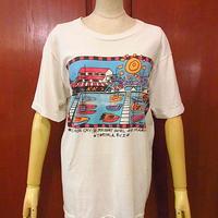 ビンテージ80's●リゾートアートプリントTシャツ Size M●200618s1-m-tsh-ot メンズトップス半袖古着