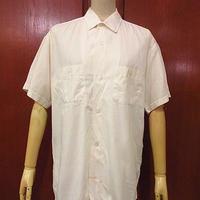 ビンテージ50's●コットン半袖ボックスシャツ白●200630f2-m-sssh-ot メンズトップス白シャツ無地古着