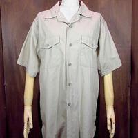 ビンテージ50's60's●CREIGHTONコットンポプリンマチ付き半袖ワークシャツ Size M●200701n2-m-sssh-wk メンズトップス開襟古着