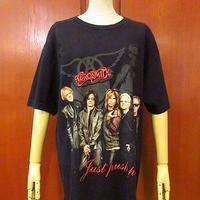 ビンテージ2000's●Aerosmith Just Push Play 全米ツアーTシャツ黒 Size L●200709s4-m-tsh-bn エアロスミス半袖古着