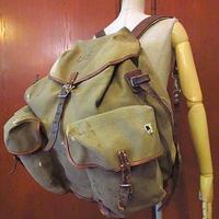 ビンテージ40's●U.S.ARMYキャンバスバックパック●200822s7-bag-bpアウトドアミリタリーUSAリュックサック米軍実物バッグカバン鞄