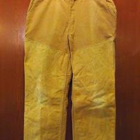 ビンテージ●REDHEADダックハンティングパンツ黄土色size 40●201130s6-m-pnt-otレッドヘッドダブルニーサスペンダーボタンアウトドア