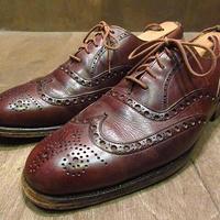 """ビンテージ●BROOKS BROTHERS """"DEVON""""ウイングチップシューズ茶40C●201119n7-m-dshs-265cm 旧チャーチBROOKS ENGLISH革靴Church's"""