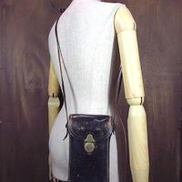 ビンテージ30's●KODAKレザーショルダーカメラバッグ黒●200717n6-bag-shd古着革ブラックコダック鞄カバン