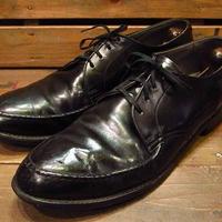 ビンテージ50's60's●スチールトゥ入り モックトゥワークシューズ 黒 Size 10●210407s14-m-dshs-28cm 1950s1960s革靴