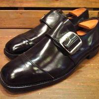 ビンテージ60's70's●DEADSTOCK weinbrennerストラップシューズ黒●210310s12-m-lf-28cm 1960s1970sデッドストック革靴メンズ