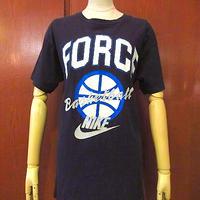 ビンテージ90's●NIKE銀タグFORCE BasketballプリントTシャツ黒size M●200921s5-m-tsh-otナイキ古着メンズUSAコットンブラック半袖