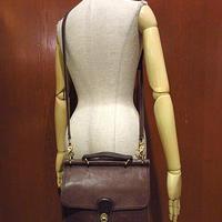 ビンテージ●オールドコーチ2WAYレザーショルダーバッグ茶●201228s1-bag-shdブラウンかばんCOACH鞄革ハンドバッグカバン