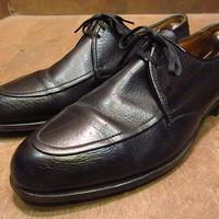 ビンテージ60's●FLORSHEIM Uチップシューズ黒10 1/2 D●201008n2-m-dshs-285cm 1960sフローシャイム革靴ドレスシューズ