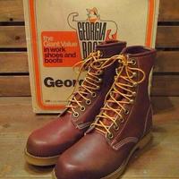 ビンテージ80's●DEADSTOCK Georgia Bootワークブーツsize 8R●210511n9-m-bt-26cm 1980sデッドストックメンズ靴ブラウン茶