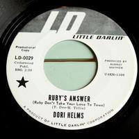 DORI HELMS●RUBY'S ANSWER/I'LL KEEP THEM LAUGHING LITTLE DARLIN' LD-0029●210308t1-rcd-7-cfレコード45米盤US盤