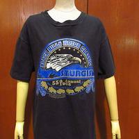 ビンテージ90's●STURGIS BLACK HILLS MOTOR CLASSIC 1995プリントTシャツ黒●210221f2-m-tsh-ot古着半袖シャツハーレースタージス