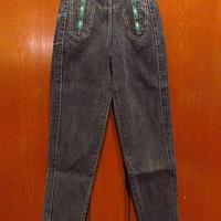 ビンテージ80's●JOUJOU 1976-1986キッズテーパードブラックジーンズsize 3/4●210207f2-k-pnt-jns古着デニム子供服ボトムスパンツ