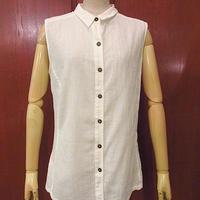 Patagoniaレディースオーガニックコットンノースリーブシャツ白size 8●200724f8-w-tktp古着ブラウスタンクトップパタゴニアアウトドア