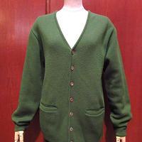 ビンテージ70's●Brentwoodニットカーディガン緑size S●210124s5-m-cdg古着セータートップスアクリルUSAグリーン
