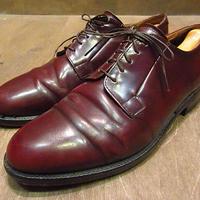 ビンテージ●CHEANEYプレーントゥシューズ9●200924n4-m-dshs-275cm チーニーバーガンディワインレッドエンジレザー革靴英国靴