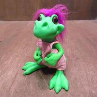 ビンテージ90's●DINO BRITESソフビドール●201006n7-doll 1990s恐竜ダイナソー人形ラバードール