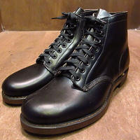 ビンテージ40's50's●DEADSTOCKプレーントゥワークブーツ黒7 1/2 E●201112n2-m-bt-26cm 1940s1950sデッドストックメンズショートブーツ